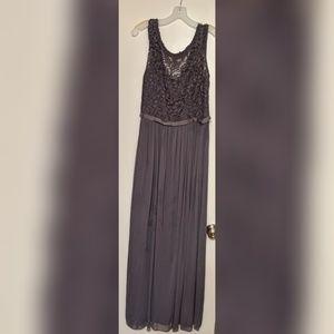 David's Bridal Long Dress with Lace Bodice